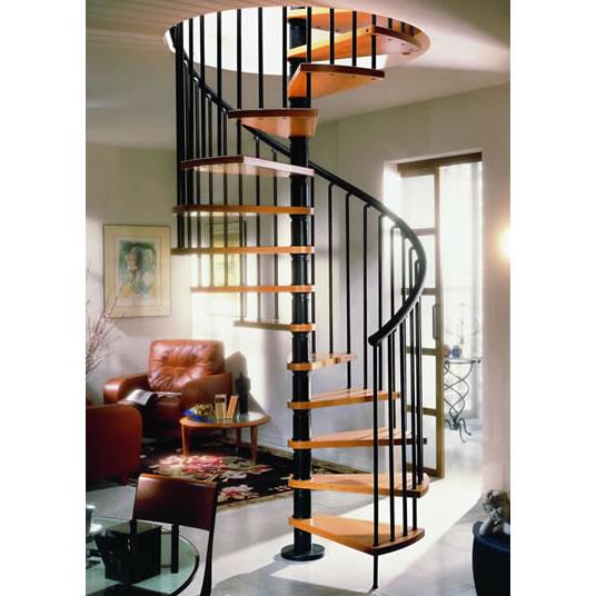 中柱旋转梯即螺旋楼梯